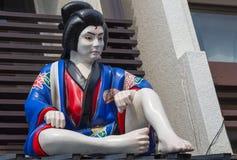 Biała twarzy atrapa siedzi w Tokio Fotografia Stock