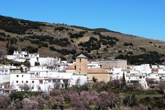 Biała wioska, Juviles, Andalusia, Hiszpania. Fotografia Royalty Free