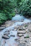 Biała woda z wodorowym siarczkiem Fotografia Stock