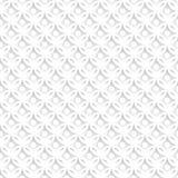 Biały abstrakcjonistyczny bezszwowy wzór z geometrycznymi ornamentami royalty ilustracja