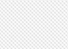 Biały abstrakcjonistyczny bezszwowy wzór z geometrycznymi ornamentami ilustracji