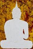 Biały abstrakcjonistyczny Buddha Fotografia Royalty Free