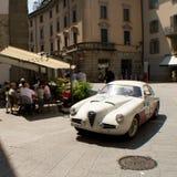 Biały Alfa Romeo przy Mille Miglia 2016 Zdjęcia Stock