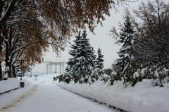 Biały altanka Poltava Zdjęcie Stock