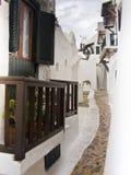 Biały arquitecture Menorca Hiszpania Obraz Royalty Free
