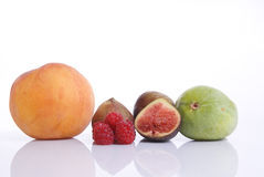 biały backround owoc Zdjęcia Stock