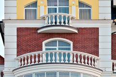 Biały balkon Obrazy Royalty Free