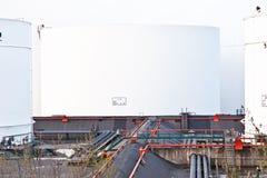 biały benzyna nafciani zbiorniki Obrazy Royalty Free