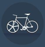 Biały bicykl w zmroku Zdjęcie Royalty Free
