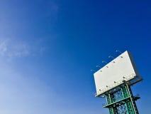 Biały billboard Obraz Stock