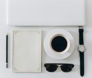 Biały biurowy desktop Fotografia Royalty Free