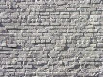 Biały Brickwork w Wysokiej uldze Obrazy Stock