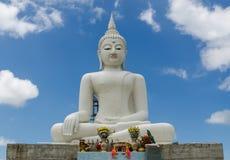 Biały Buddha Obraz Stock