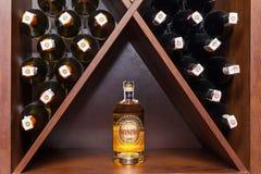 biały butelki wino Obraz Stock