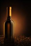 biały butelki wino Obrazy Stock
