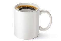 Biały ceramiczny kawowy kubek Zdjęcie Royalty Free