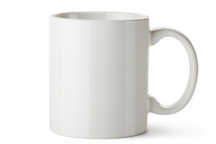 Biały ceramiczny kubek Obrazy Stock