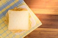 biały chleb w plastrach Fotografia Royalty Free