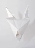 Biały czarci origami Zdjęcie Stock
