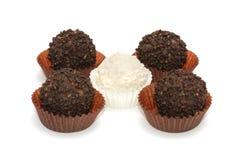 biały czarny cukierki Obraz Royalty Free
