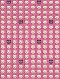 biały czarny koty Obrazy Stock