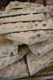 Biały czekolada stos Obraz Stock
