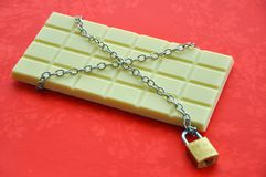 Biały czekoladowy kuszenie Zdjęcia Stock