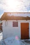 biały dom na wsi Obrazy Royalty Free