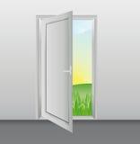 Biały drzwi Ilustracja Wektor