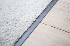 Biały dywan w domu Zdjęcia Stock