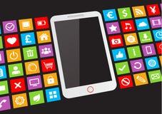 Biały ekranu sensorowego smartphone Zdjęcie Royalty Free