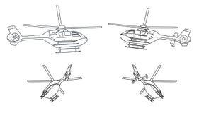 Biały helikopter Obrazy Stock