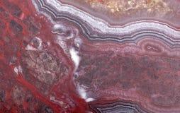 Biały i czerwony agata wzór Zdjęcia Royalty Free