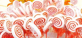 Biały i czerwony cukierek Fotografia Stock