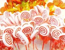 Biały i czerwony cukierek Obraz Stock