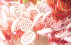 Biały i czerwony cukierek Obrazy Royalty Free