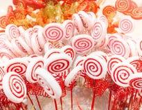 Biały i czerwony cukierek Obraz Royalty Free