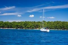 biały jacht Fotografia Stock