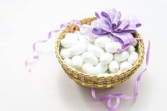 Biały jedwabniczy kokon Fotografia Stock