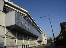 Biały jelenia pas ruchu - Tottenham raptusa stadium Fotografia Royalty Free