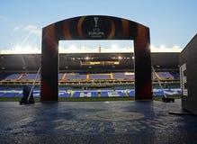 Biały jelenia pas ruchu - Tottenham raptusa stadium Obraz Stock