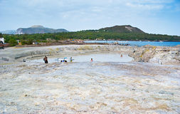 Biały jezioro Obraz Royalty Free
