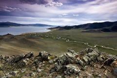 Biały jezioro Obrazy Royalty Free