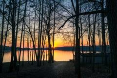 Biały jezioro Fotografia Stock