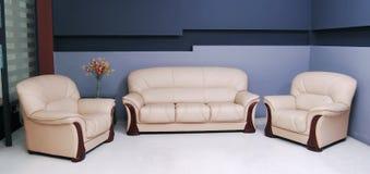 Biały kanapa Fotografia Stock
