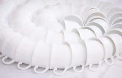 biały kawowi kubki Fotografia Stock