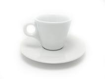 Biały kawowy kubek Fotografia Royalty Free