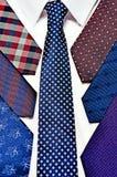 biały koszulowi szyja krawaty Fotografia Stock