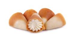 biały kremowi cukrowi tubules Zdjęcie Royalty Free