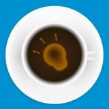 Biały kubek kawa Obrazy Royalty Free